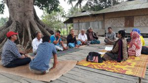 Focus group discussion with local people in Hill