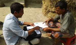 Identifying land class using satellite map in Village
