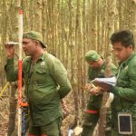 Bearing measurement with clinometer and temporary recording in paper in the Sundarbans