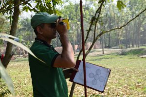 Distance measurement and preparing LF proportioning sketch in village area Rajshahi
