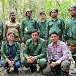 Field team with BFI team during quality check in the Sundarbans